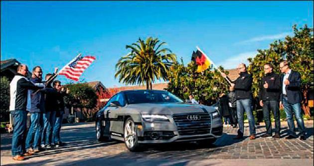 Audi'nin sürücüsüz aracı yollara çıktı