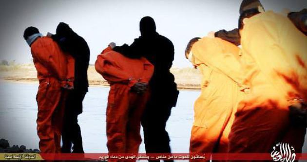 IŞİD 12 Iraklıyı mürted diyerek infaz etti!