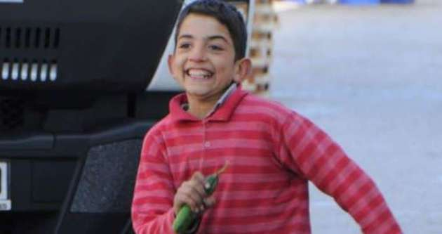 Suriyeli çocuğun 'en acı' sevinci