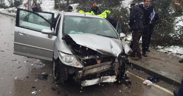 Kocaeli Emniyet Müdürü kaza yaptı
