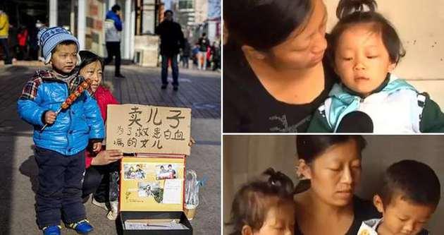 Caddenin ortasında çocuğunu satıyor
