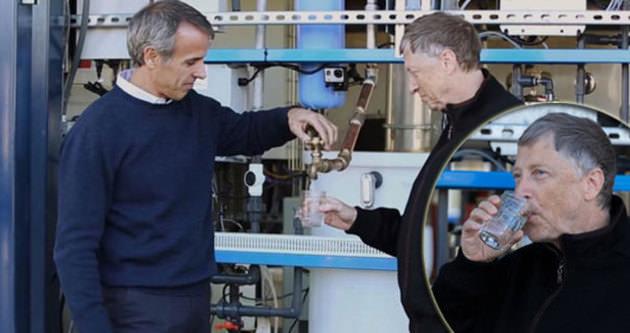 Bill Gates insan dışkısından su içti