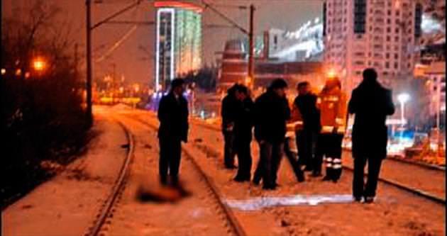 Mamak'ta feci tren kazası