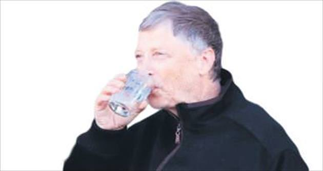 Bill Gates kanalizasyon suyu içti