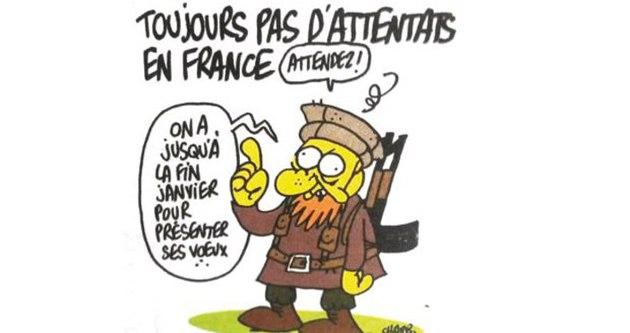 Charlie Hebdo'dan kehanet gibi karikatür