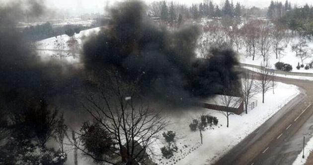 Meclis'te yangın paniği