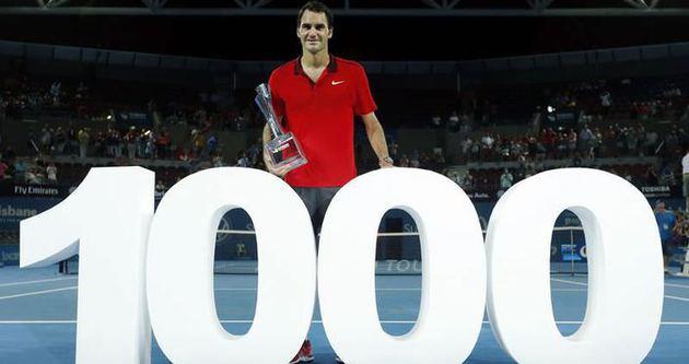 Federer 1000'ler kulübünde