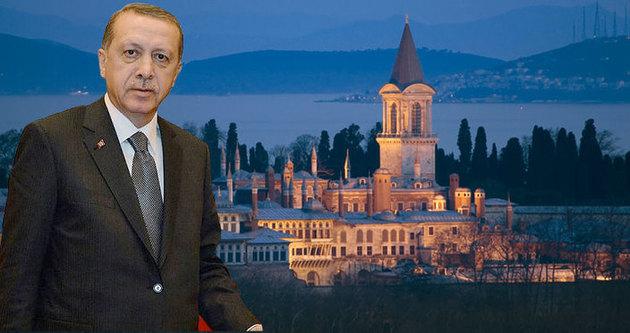 Erdoğan Topkapı Müzesi'nde konuştu