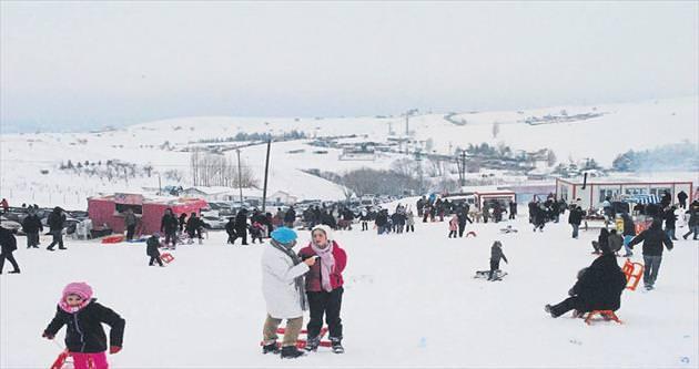 Elmadağ Kayak Merkezi doldu