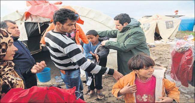 İlk etap yardımlar çadırlara ulaştı