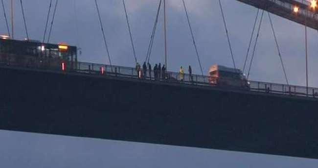 Boğaziçi Köprüsü'nde intihar girişimi