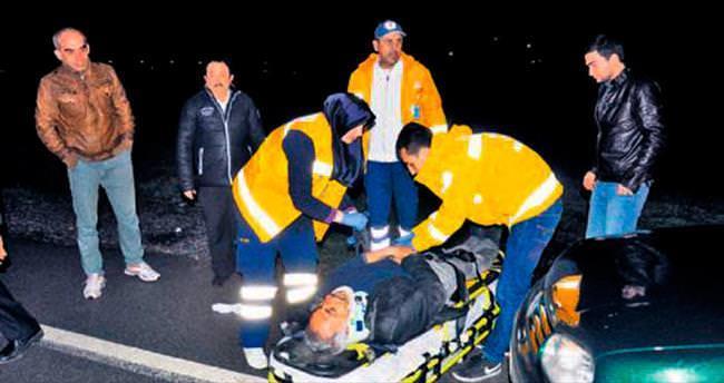 Bir kazada 6 yaralı