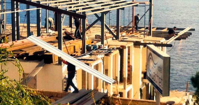 Belediye mühürledi inşaat devam ediyor