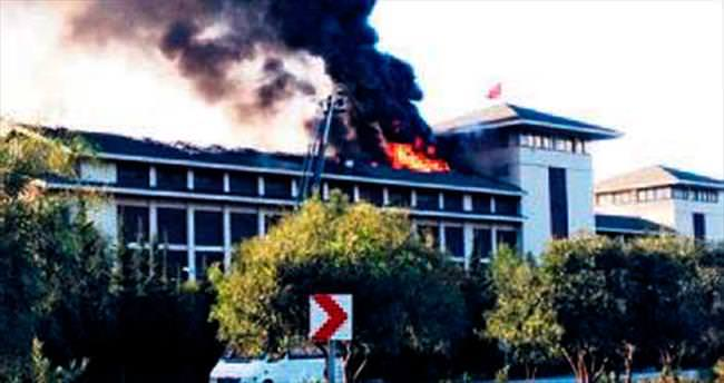 5 yıldızlı otelde yangın korkuttu