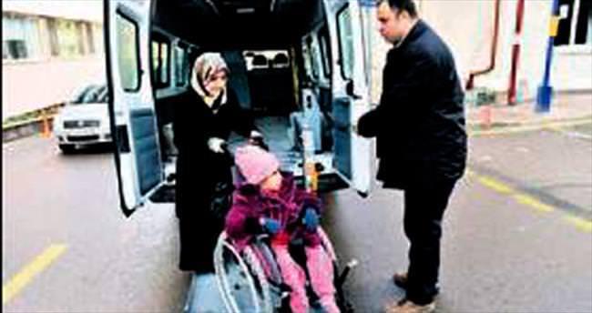Mamak'ta engellilere servis hizmeti veriliyor