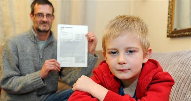 5 yaşındaki çocuğa şoke eden fatura
