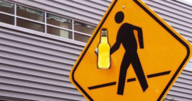 Aşırı alkollü yayalara ceza