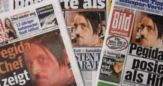 PEGİDA lideri Hitler pozu nedeniyle istifa etti