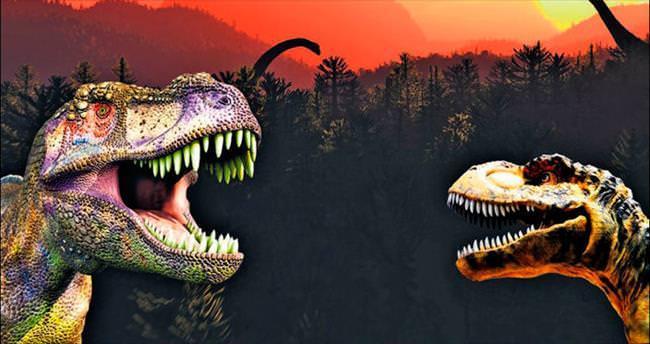 Çocuklar dinozor çağında