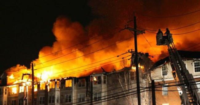 ABD'deki yangında 408 daire kül oldu!