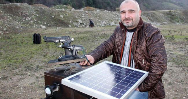 Karadenizli mucitten solar enerjili silah