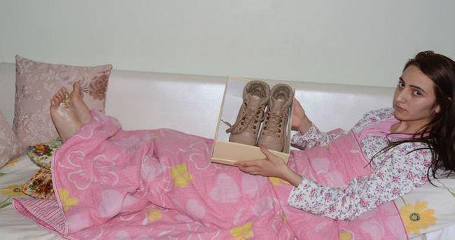 Zehirli ayakkabı bu hale getirdi