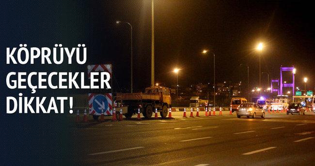 Fatih Sultan Köprüsü'nde 4 şerit trafiğe kapatıldı