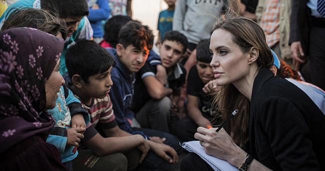 Angelina Jolie'den Ezidilere ziyaret