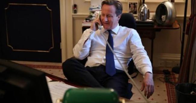 Cameron'u telefonda işlettiler