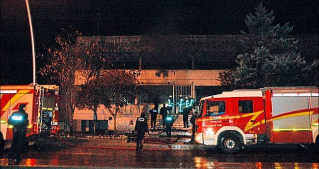 GMK'da boş binada yangın çıktı