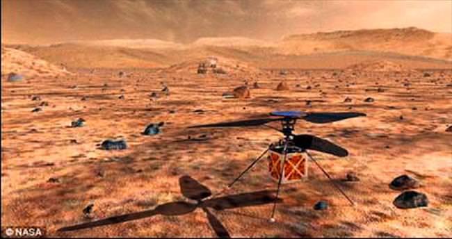 Mars'a helikopter!
