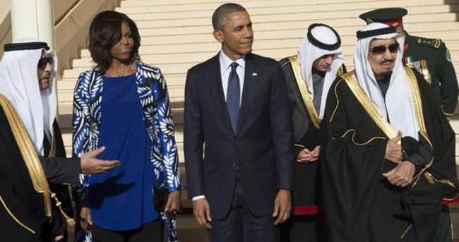 Kral Selman Obama'yı bırakıp gitti