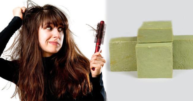 Saç dökülmesini bıttım sabunuyla önleyin
