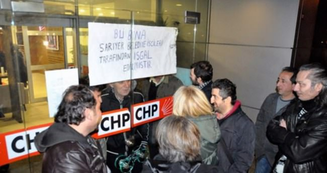 Taşeron işçiler CHP İstanbul İl Başkanlığı bastı