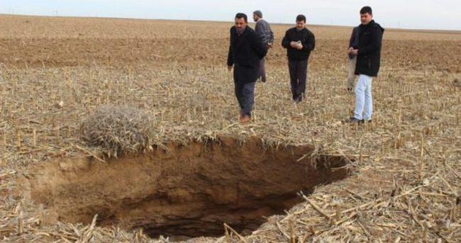 Konya'da obruklar oluştu