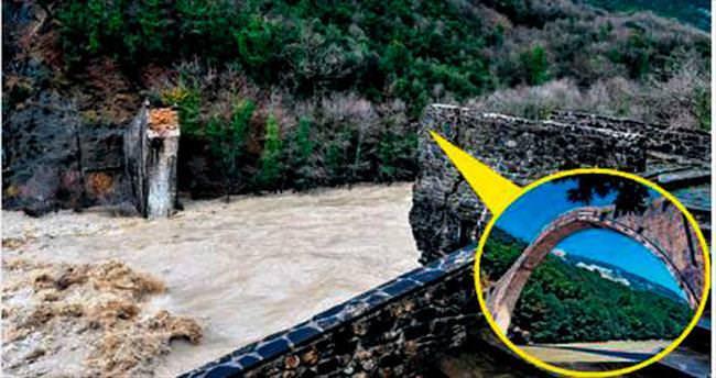 Osmanlı yadigârı olan 150 yıllık köprü yıkıldı