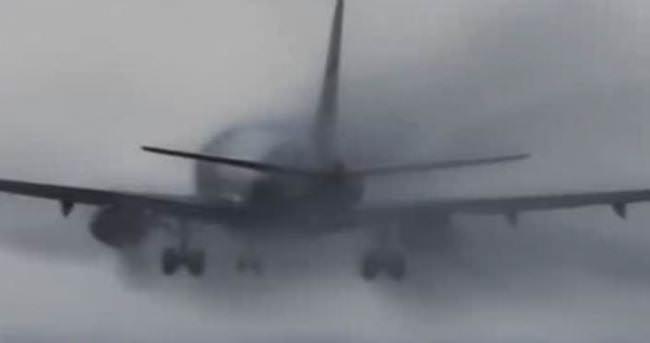 THY uçağı yürekleri ağza getirdi