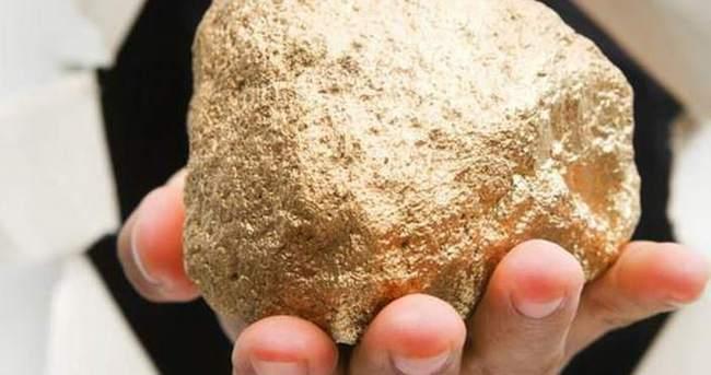 Tesadüfen 7,85 kg'lık altın külçesi buldu