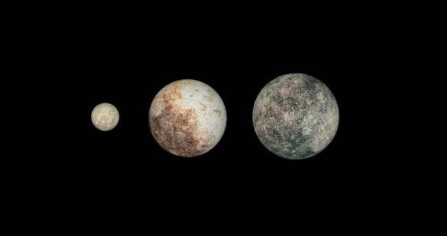 Cüce gezegen görüntülendi