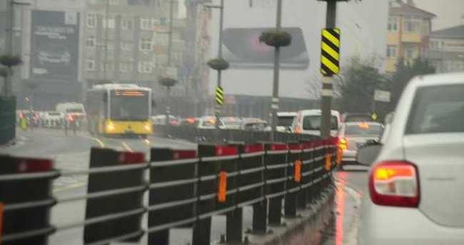 İstanbul'da kar trafiği