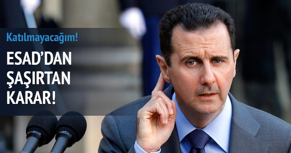 Esad: Koalisyona katılmayacağız