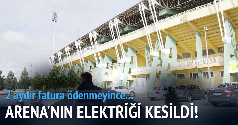 GAP Arena'nın elektrikleri kesildi