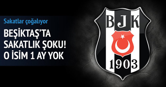 Beşiktaş'ta sakatlık şoku 1 ay yok!