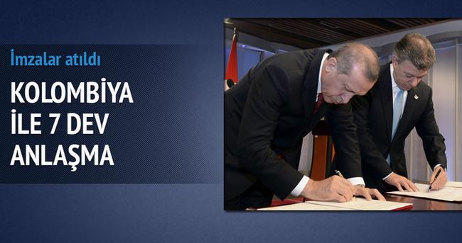 Kolombiya ile 7 dev anlaşma
