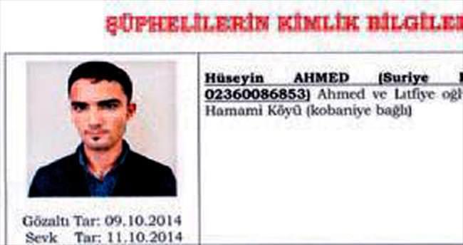 6-10 Ekim provokatörü Kobani'den gelmiş