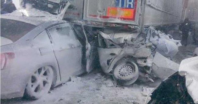 İstanbul-Silivri yolunda zincirleme trafik kazası