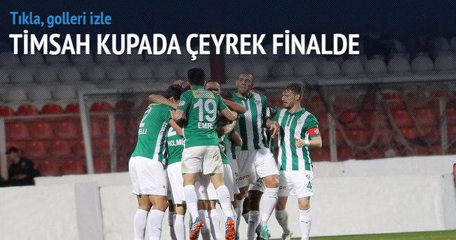Bursaspor çeyrek finalde