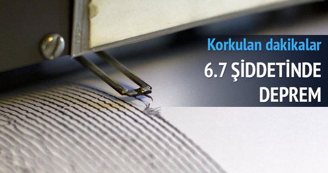 6,7 şiddetinde deprem