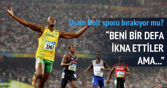 Usain Bolt spor bırakmıyor mu?