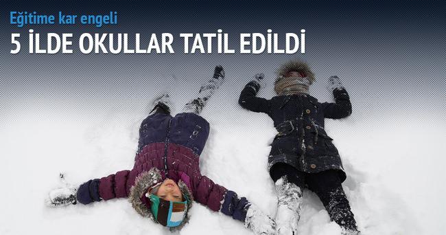 5 ilde okullara kar tatili